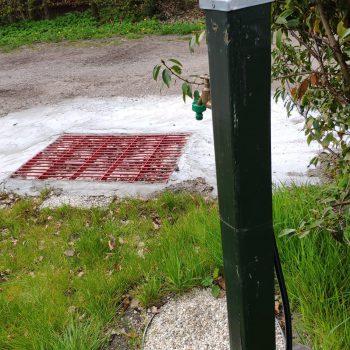 vuilwater stortplaats voor het grijze afvalwater